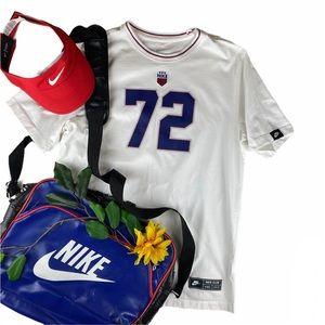 Nike Sportswear Club 72 Tee White T-Shirt USMNST